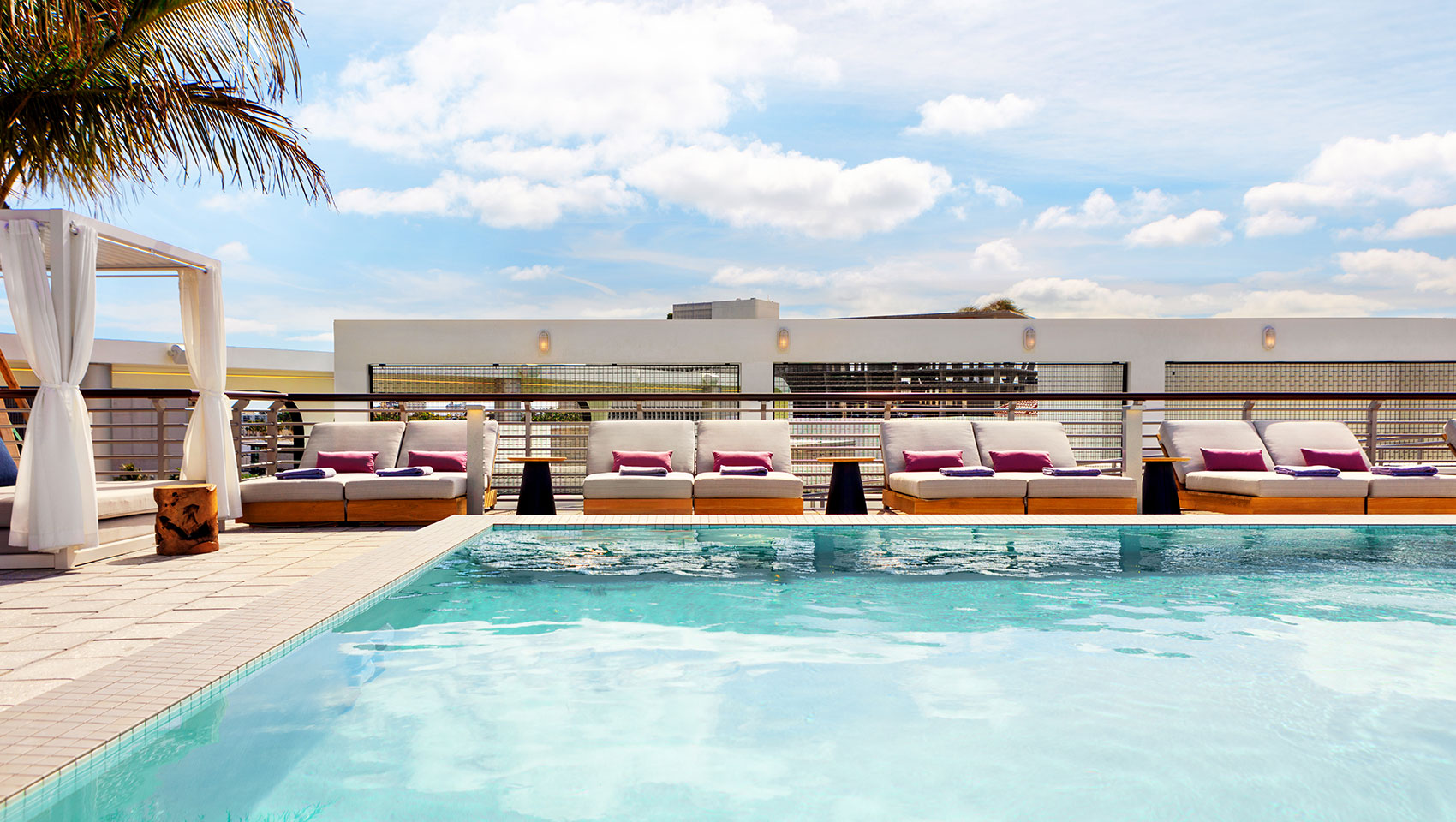 Expansive Rooftop Pool at Palomar South Beach