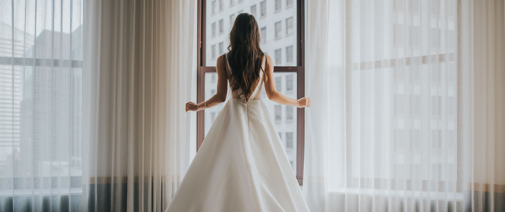 bride in room
